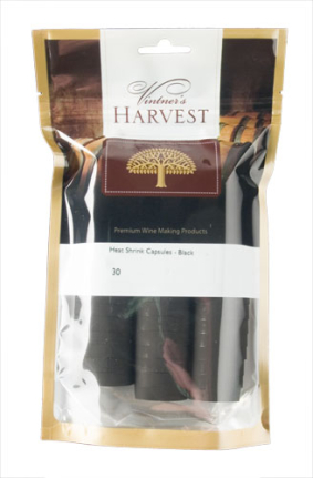 Vintner's Harvest Heat Shrink Capsules - Black x30