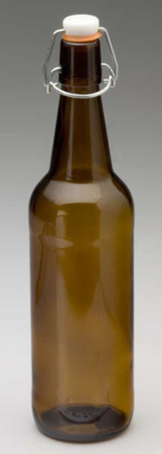 Mangrove Jack's Amber Flip Top Bottle 750ml - Case 12