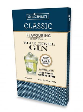 "Classic ""Blue Jewel Gin"""
