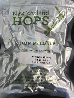 Hop Pellets East Kent Goldings 100gm