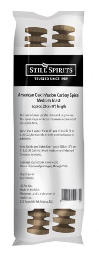 American Oak Spirals Medium Toast