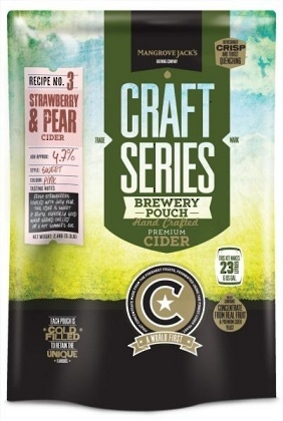 "Mangrove Jack's Craft Series Strawberry & Pear Cider"" 2.4kg"