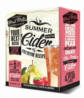 "Mad Millie ""Pear & Strawberry Cider Ingredients Kit"""