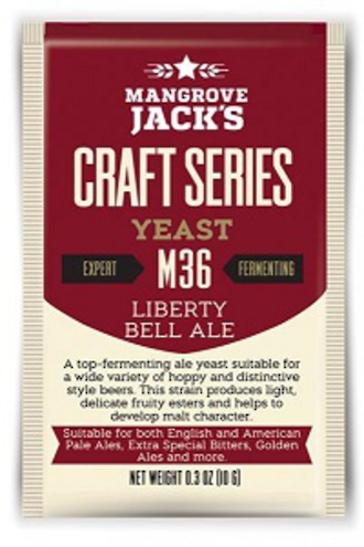 "Mangrove Jack's "" Liberty Bell Ale"" M36 Yeast 10gm"